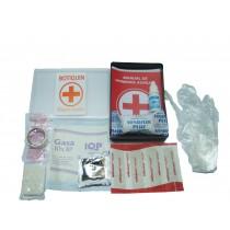 Botiquin Noo6 C/cinta Adhes.(1m.),agua Oxigenada,apositos(4),gasa (1),manual Primeros Auxilios,alcohol En Gel(1),guantes(2) V