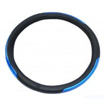 Cubre Volante Cuero Con Reflectivo Azul Cv-027a