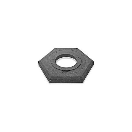 Base Goma Hexag.p/cono 75cm.  Bm075