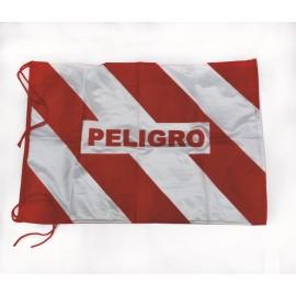 Bandera Peligro C/leyenda Ribet.