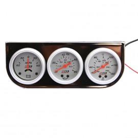 Trio Medidor 52mm Plata Af08 (amps/aceite/agua)