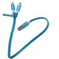 Cable Cargador Celular Zipper Iphone/android Ax12
