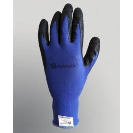 Guante G10 Poliester Azul Baño Latex Rugoso