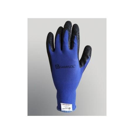 Guante G13 Poliester Azul C/baño Latex (l1001b-t9)