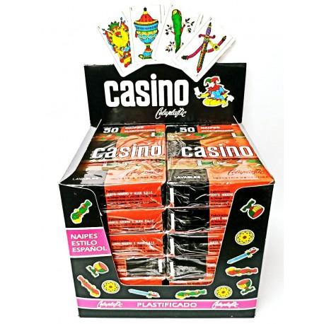 Naipes Casino X 50 Caja Exhibidora Por 12 Un.