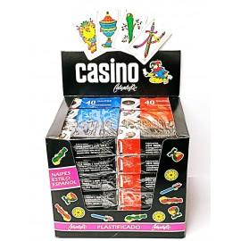 Naipes Casino X 40 Caja Exhibidora Por 12 Un.