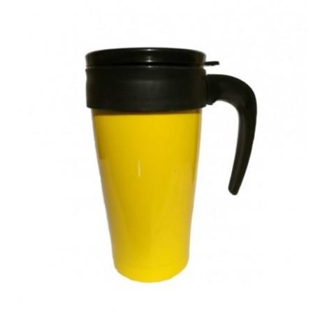 Vaso Termico Acero Amarillo