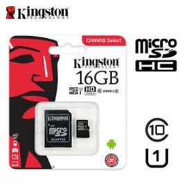 Micro Sd 16gb Kingston Canvas Clase 10 Sdhc/sdxc