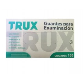 Guante Latex Descartable Trux (mediano)  X 100 Unidades