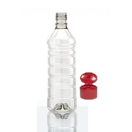 Botella 1lt. Pet Virgen C/tapa