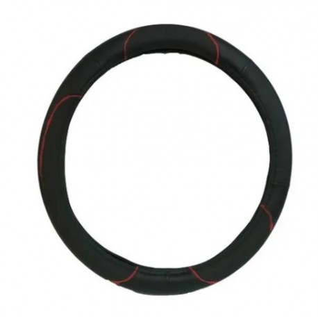 Cubrevolante Negro C/costura Roja Talle L (imp)