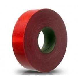 Banda Reflectiva Roja Rollo 75mmx45m (imp)