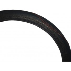 Cubrevolante Cuero Negro Cost.roja S-36cm (imp)