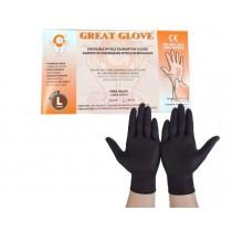Guante Nitrilo Negro Desc. G.glove X100 (large)
