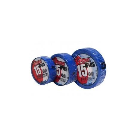 Cinta Tacsa Pvc 15 Plus 10mt. Azul