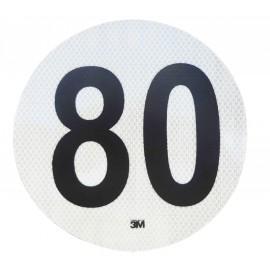 Circulo Velocidad Maxima 80