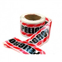 Cinta Perim.peligro Roja/blanca 8cm X 200mts (doble Faz)